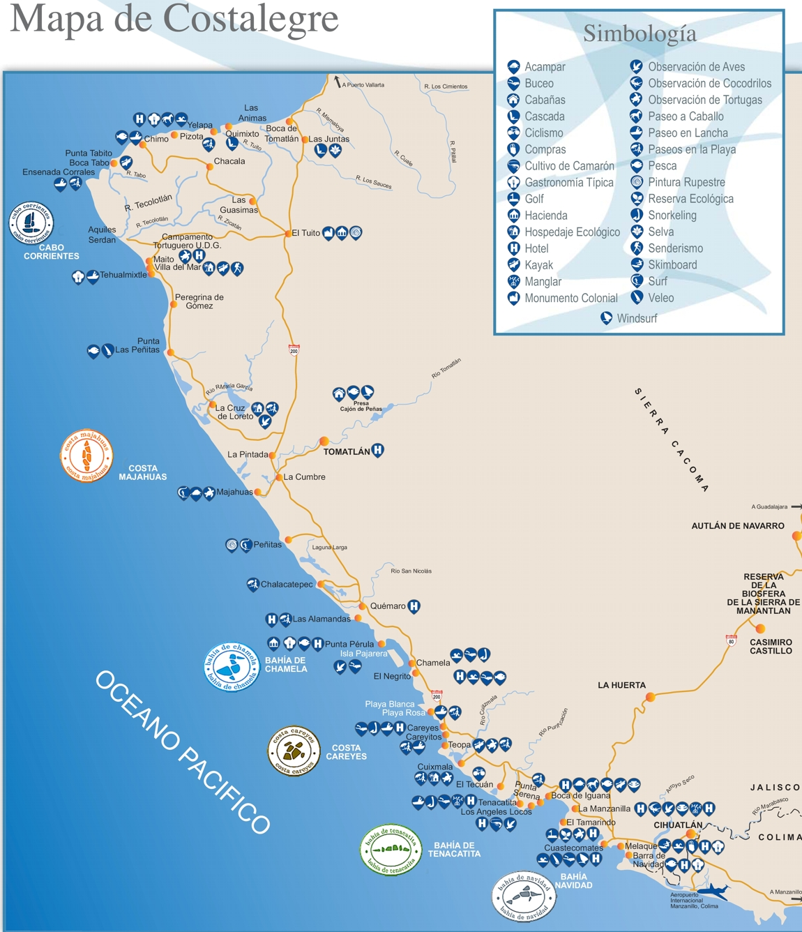 Careyes Mexico Map.Costalegre Welcome To The Official Tourism Website Of Costalegre